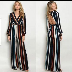 Pants - New w/tags! Gorgeous Striped Jumpsuit🌼
